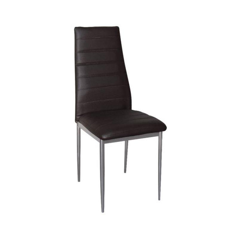 """Καρέκλα """"JETTA-I"""" μεταλλική-pvc σε χρώμα σκούρο καφέ 40x50x95"""
