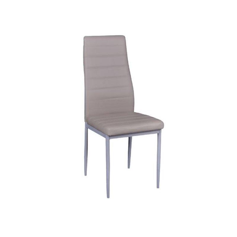 """Καρέκλα """"JETTA-I """" μεταλλική-pvc χρώματος cappuccino 40x50x95"""
