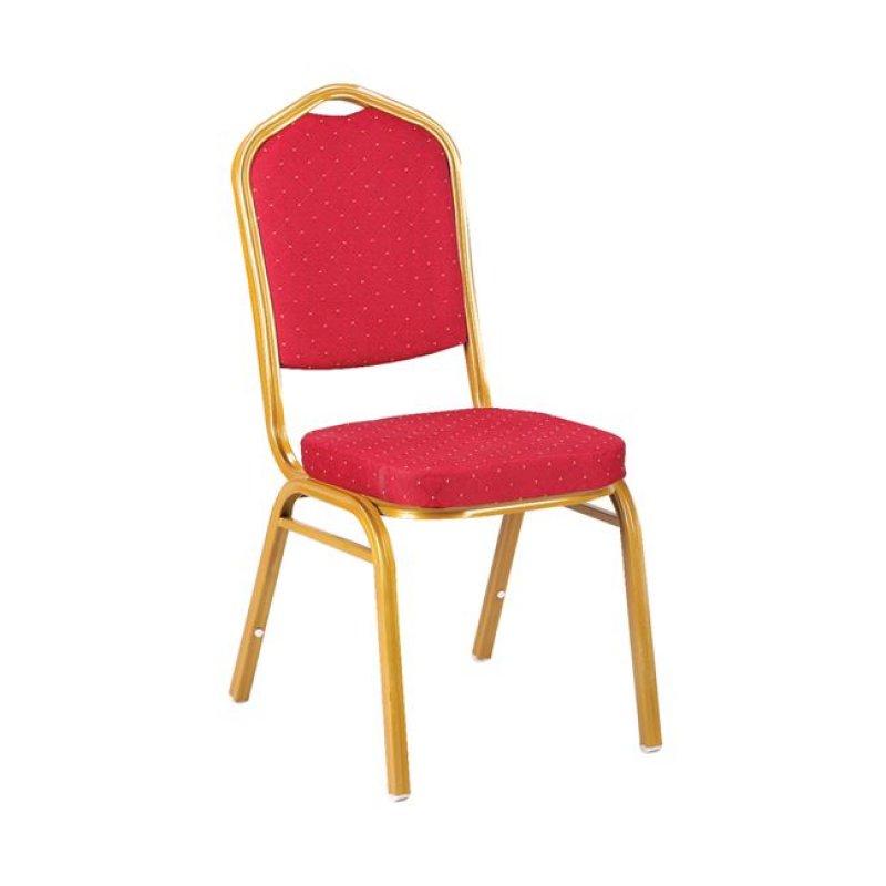 """Καρέκλα """"HILTON"""" μεταλλική-υφασμάτινη σε κόκκινο χρώμα 44x56x94"""