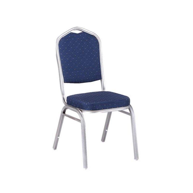 """Καρέκλα """"HILTON"""" μεταλλική-υφασμάτινη σε μπλε χρώμα 44x56x94"""