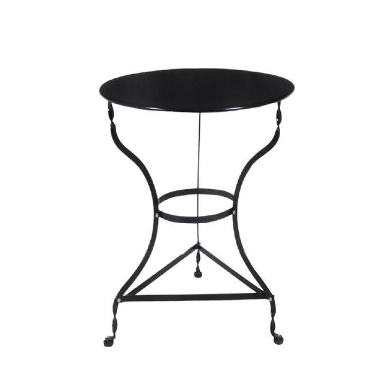 """Τραπέζι """"ΠΑΡΑΔΟΣΙΑΚΟ"""" μεταλλικό σε μαύρο χρώμα 60x71"""