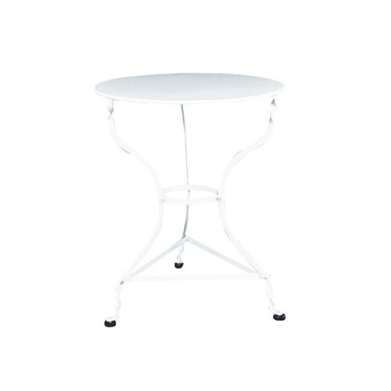 """Τραπέζι """"ΠΑΡΑΔΟΣΙΑΚΟ"""" μεταλλικό σε λευκό χρώμα 60x71"""