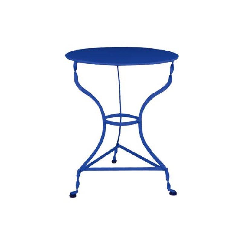 """Τραπέζι """"ΠΑΡΑΔΟΣΙΑΚΟ"""" μεταλλικό σε μπλέ  χρώμα 60x71"""