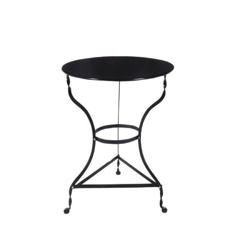 """Τραπέζι """"ΠΑΡΑΔΟΣΙΑΚΟ"""" μεταλλικό σε μαύρο χρώμα 70x71"""