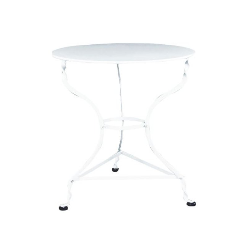 """Τραπέζι """"ΠΑΡΑΔΟΣΙΑΚΟ"""" μεταλλικό σε λευκό χρώμα 70x71"""