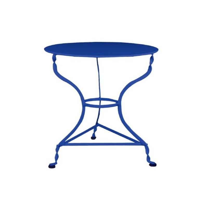 """Τραπέζι """"ΠΑΡΑΔΟΣΙΑΚΟ"""" μεταλλικό σε μπλέ χρώμα 70x71"""