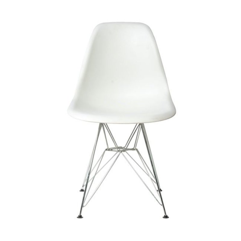 """Καρέκλα """"ART"""" μεταλλική-pp σε χρώμα λευκό 46x55x82"""