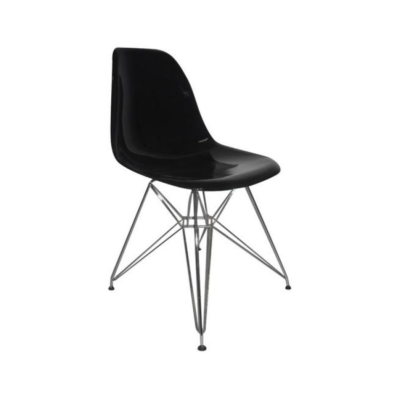 """Καρέκλα """"ART"""" μεταλλική-pp σε χρώμα μαύρο 46x55x82"""