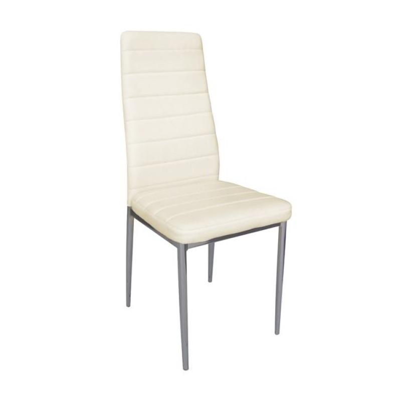 """Καρέκλα """"JETTA-I"""" μεταλλική-pvc σε χρώμα εκρού 40x50x95"""