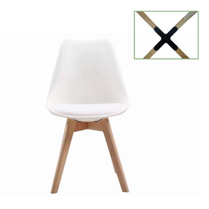 """Καρέκλα """"MARTIN"""" από pp σε λευκό χρώμα 49x54x82"""