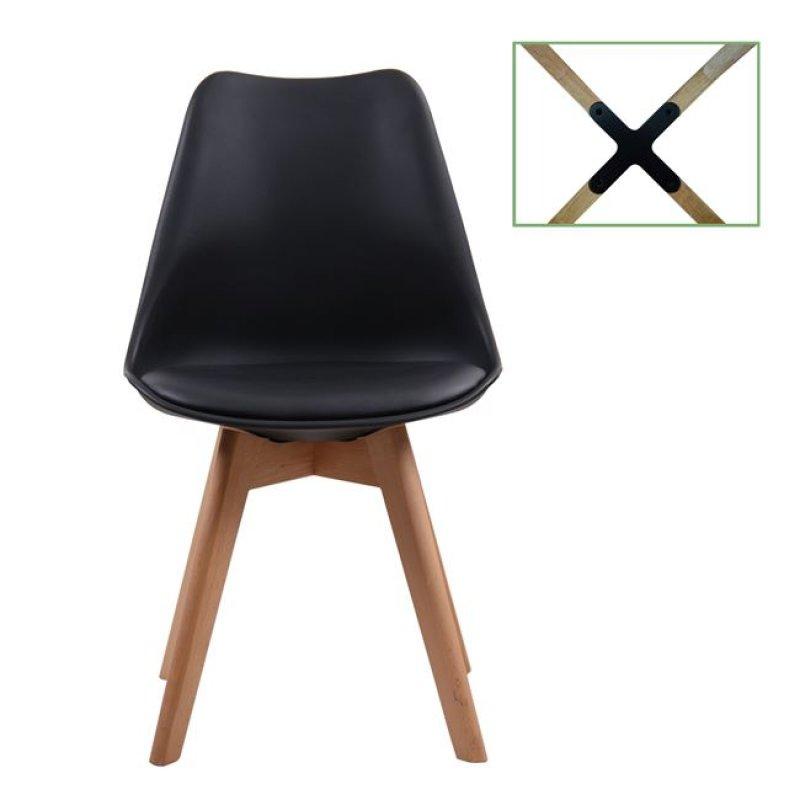 """Καρέκλα """"MARTIN"""" από pp σε σε μαύρο χρώμα 49x54x82"""