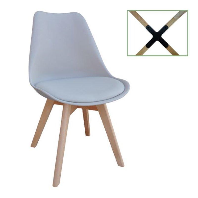 """Καρέκλα """"MARTIN"""" από pp σε γκρι χρώμα 49x54x82"""