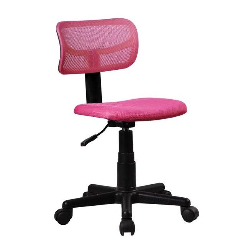 Καρέκλα εργασίας από ύφασμα mesh σε ροζ χρώμα 42x46x72/84