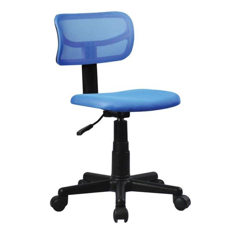 Καρέκλα εργασίας από ύφασμα mesh σε μπλε χρώμα 42x46x72/84