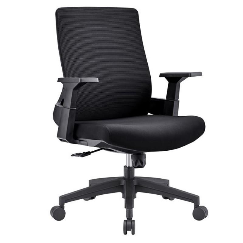 Καρέκλα γραφείου από ύφασμα mesh σε λαχανί χρώμα 42x46x72/84