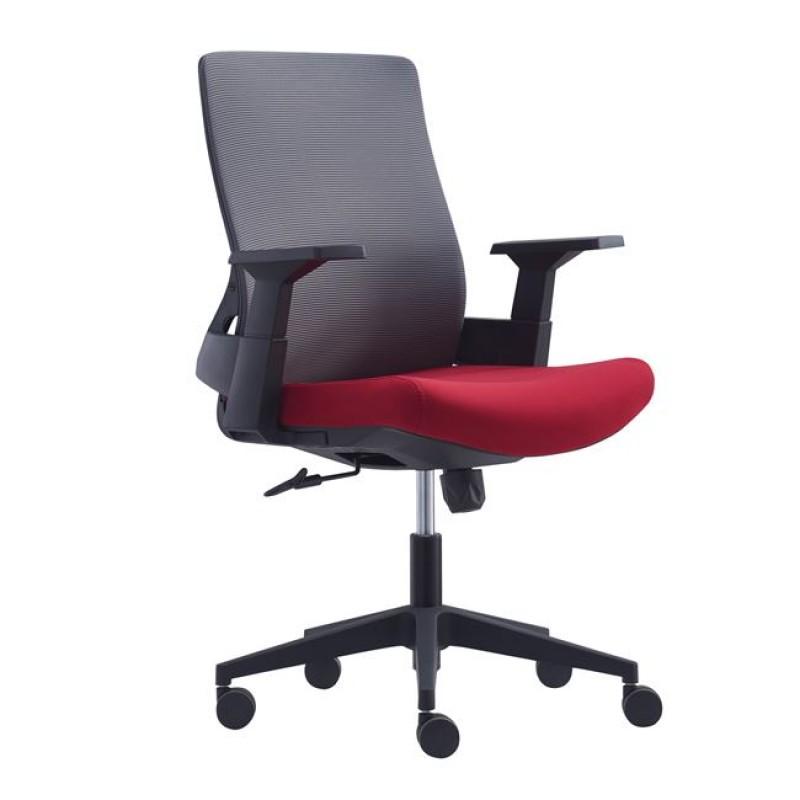 Καρέκλα γραφείου από ύφασμα mesh σε κόκκινο χρώμα 42x46x72/84