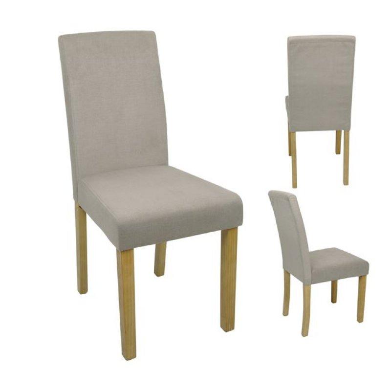 """Καρέκλα """"MALEVA-L"""" υφασμάτινη (αδιάβροχη) σε μπεζ χρώμα 41x58x93"""