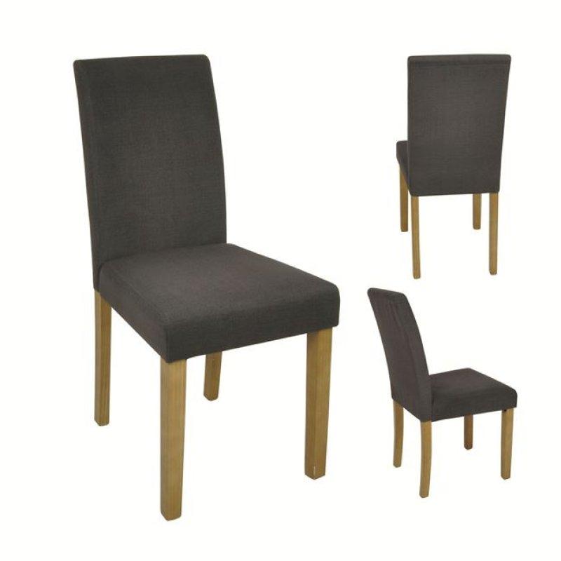 """Καρέκλα """"MALEVA-L"""" υφασμάτινη (αδιάβροχη) σε σκούρο γκρι χρώμα 41x58x93"""