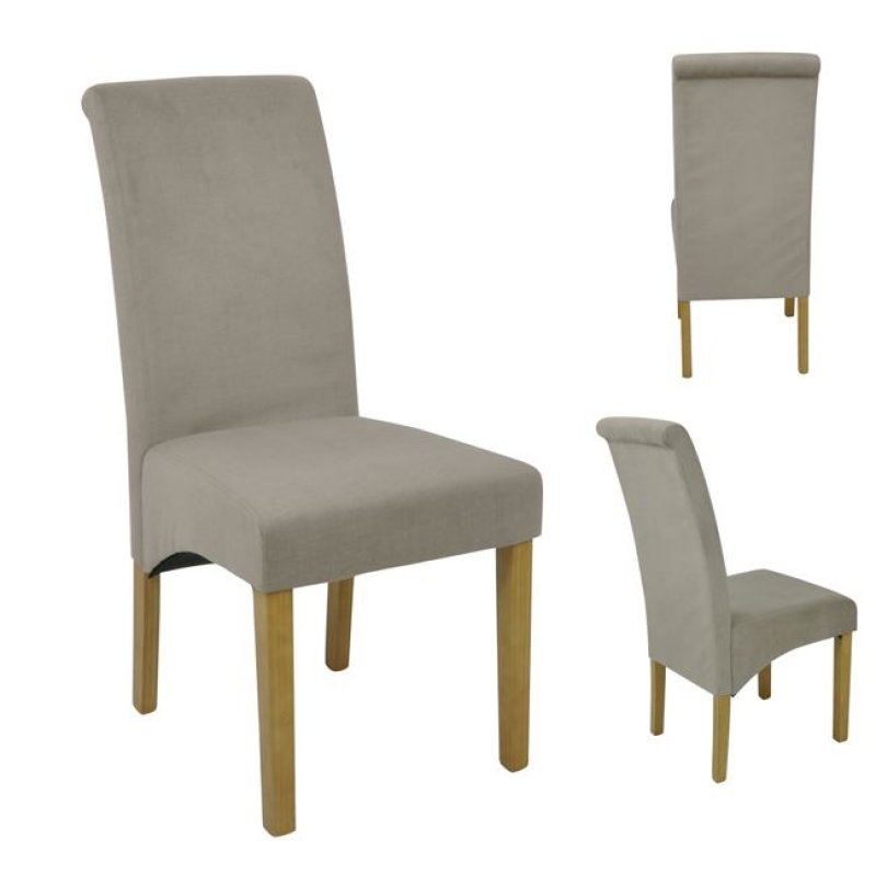 """Καρέκλα """"MALEVA-H"""" υφασμάτινη (αδιάβροχη) σε μπεζ χρώμα 46x61x100"""