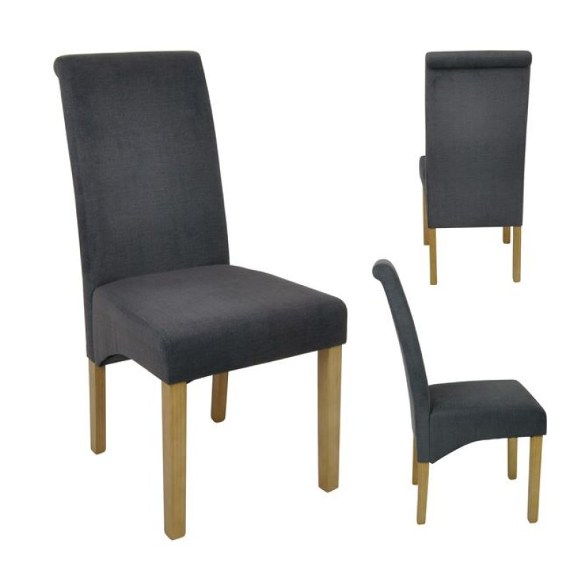 """Καρέκλα """"MALEVA-H"""" υφασμάτινη (αδιάβροχη) σε σκούρο γκρι χρώμα 46x61x100"""