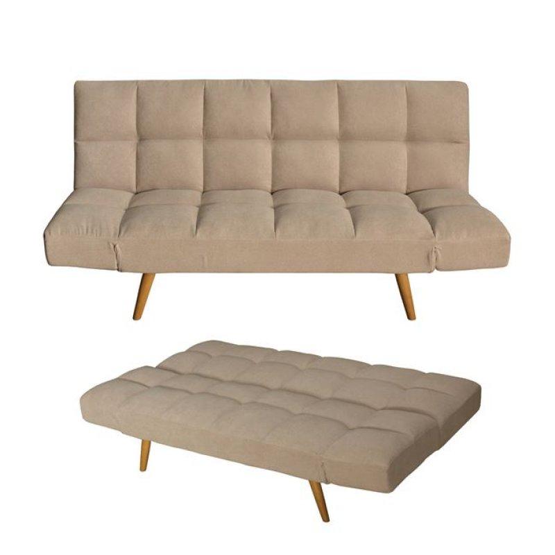 """Καναπές-κρεβάτι """"MOTION"""" διθέσιος από ύφασμα σε μπεζ χρώμα 182x81x84"""