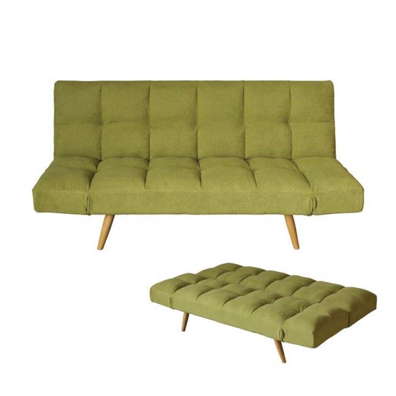 """Καναπές-κρεβάτι """"MOTION"""" διθέσιος από ύφασμα σε πράσινο χρώμα 182x81x84"""