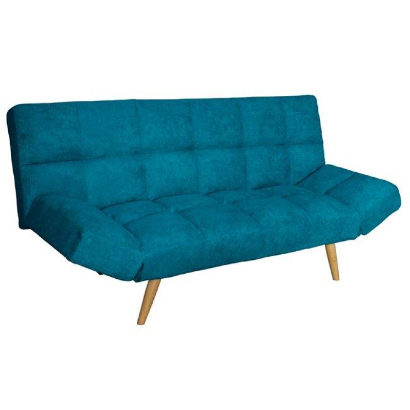 """Καναπές-κρεβάτι """"MOTION"""" διθέσιος από ύφασμα σε γαλάζιο χρώμα 182x81x84"""