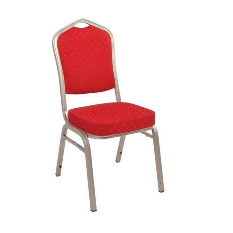 """Καρέκλα """"HILTON"""" μεταλλική-υφασμάτινη σε κόκκινο χρώμα 46x52x93"""