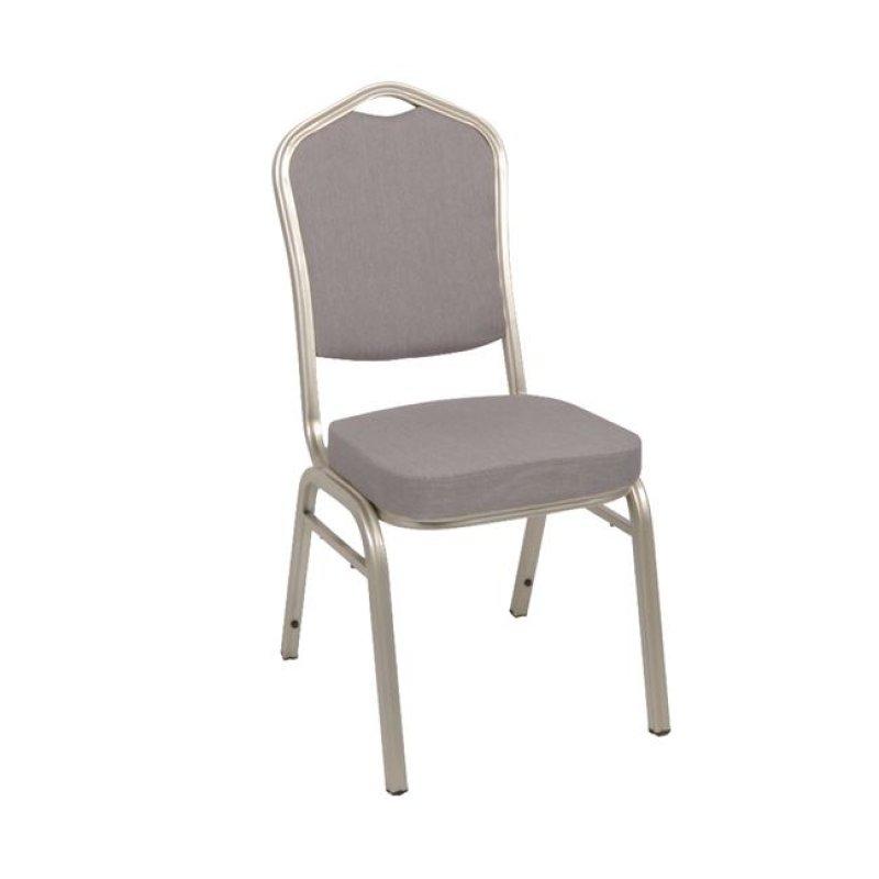 """Καρέκλα """"HILTON"""" μεταλλική-υφασμάτινη σε καφέ χρώμα 46x52x93"""