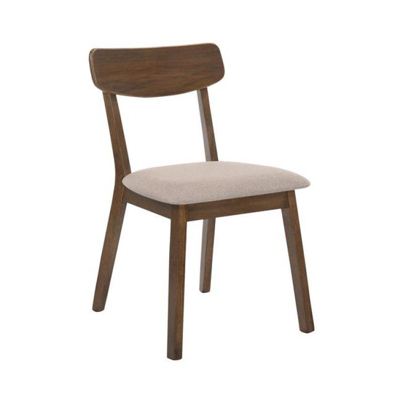 """Καρέκλα """"CALVIN"""" ξύλινη-υφασμάτινη σε μπεζ χρώμα 45x52x80"""