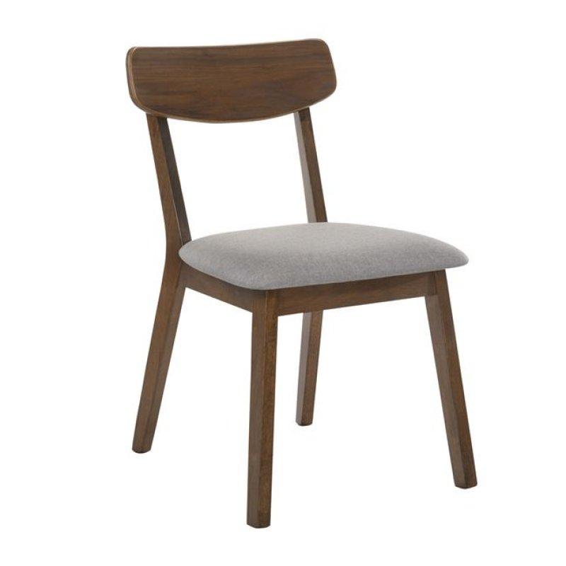 """Καρέκλα """"CALVIN"""" ξύλινη-υφασμάτινη σε γκρι χρώμα 45x52x80"""