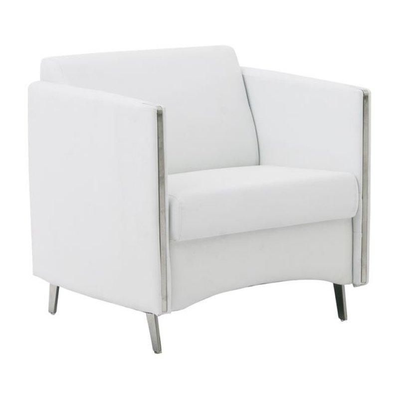 """Πολυθρόνα """"ONTARIO"""" από pu σε λευκό χρώμα 72x74x72"""