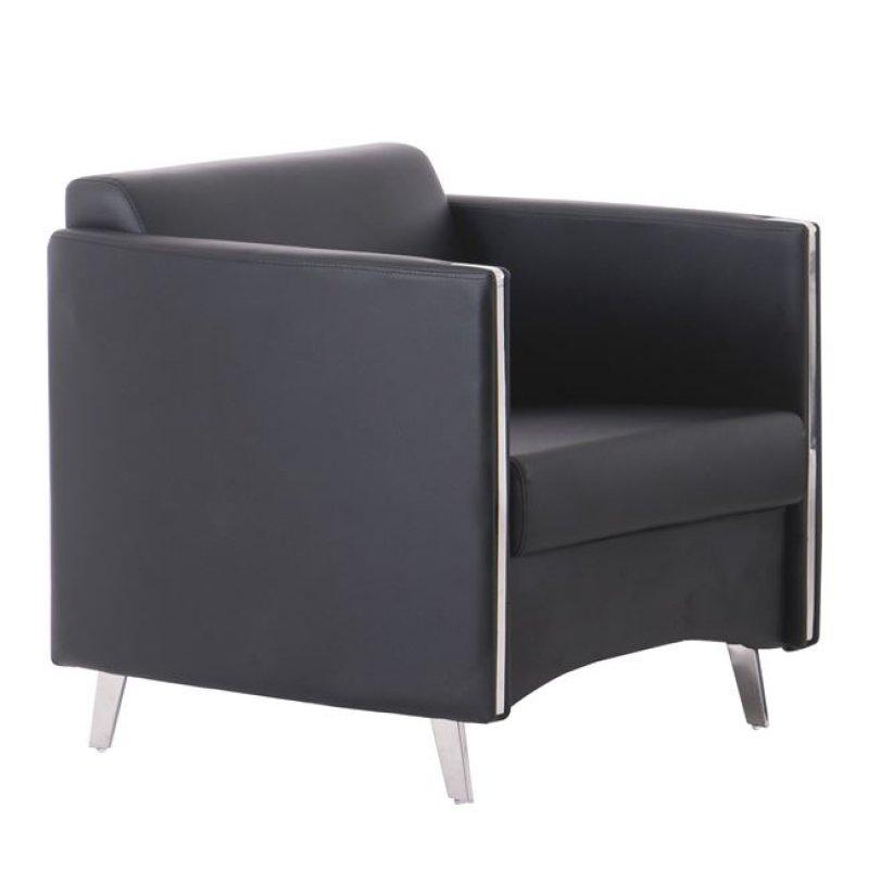 """Πολυθρόνα """"ONTARIO"""" από pu σε μαύρο χρώμα 72x74x72"""