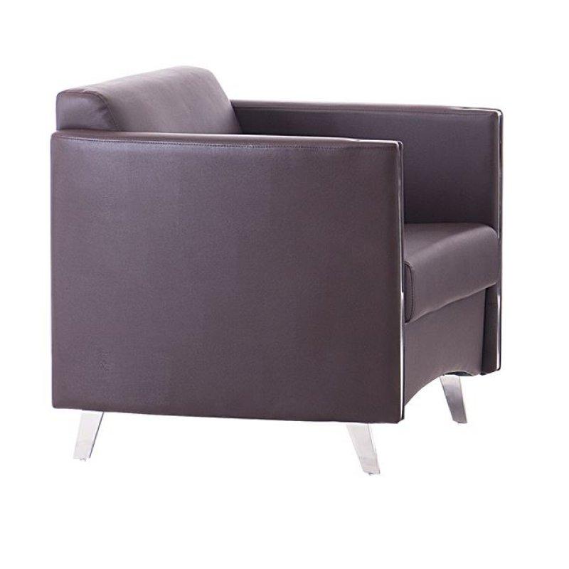 """Πολυθρόνα """"ONTARIO"""" από pu σε καφέ χρώμα 72x74x72"""