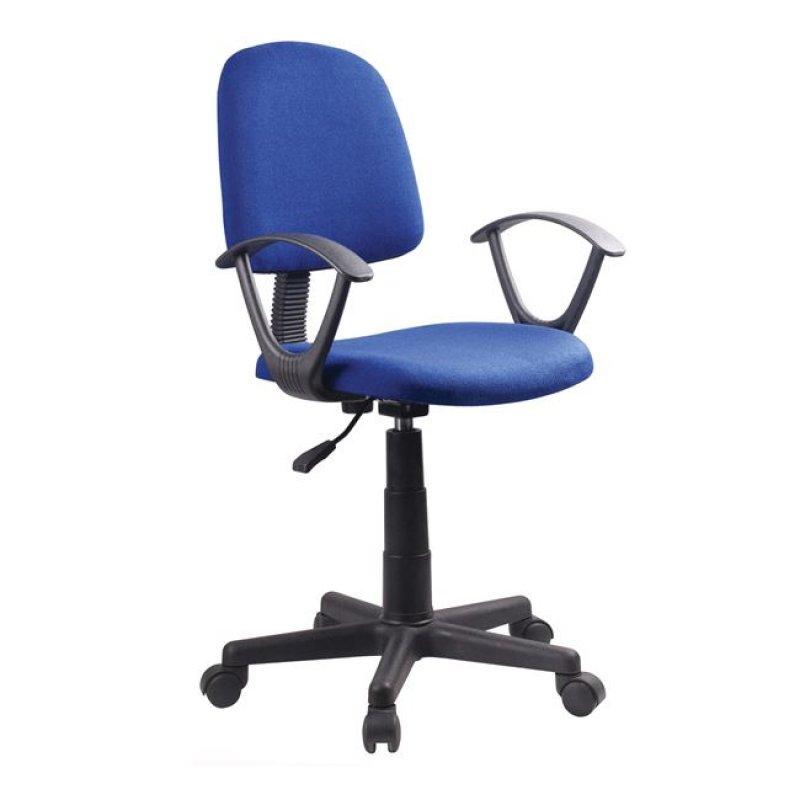 Πολυθρόνα εργασίας από ύφασμα σε μπλε χρώμα 55x48x82/94
