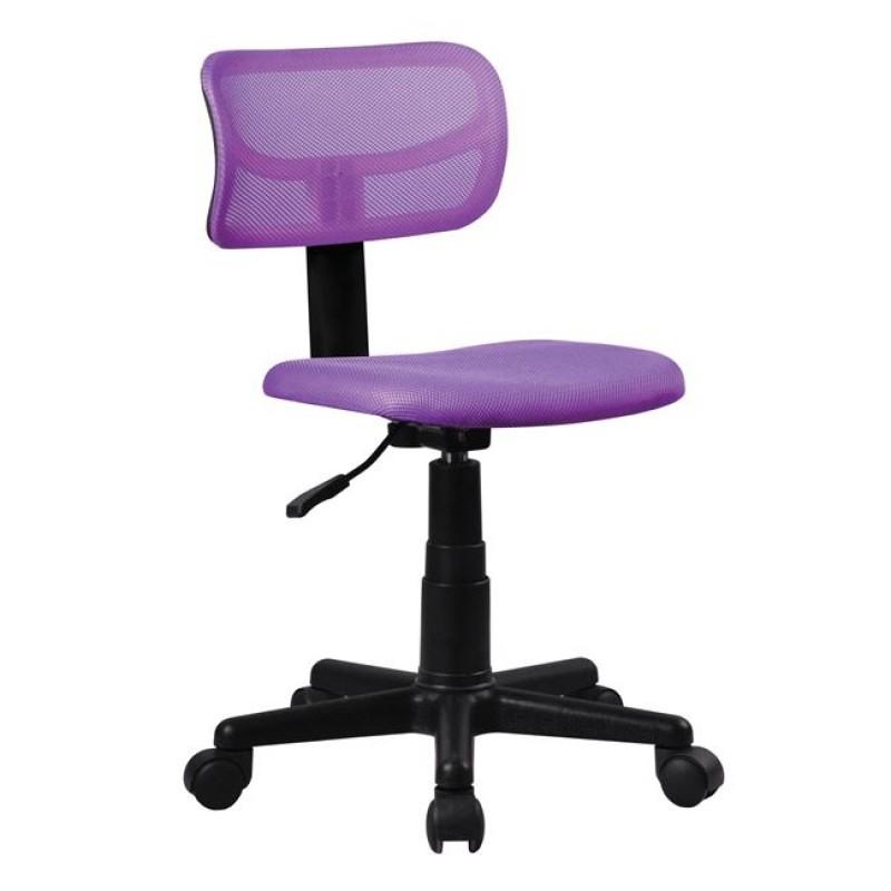 Καρέκλα εργασίας από ύφασμα mesh σε μωβ χρώμα 42x46x72/84