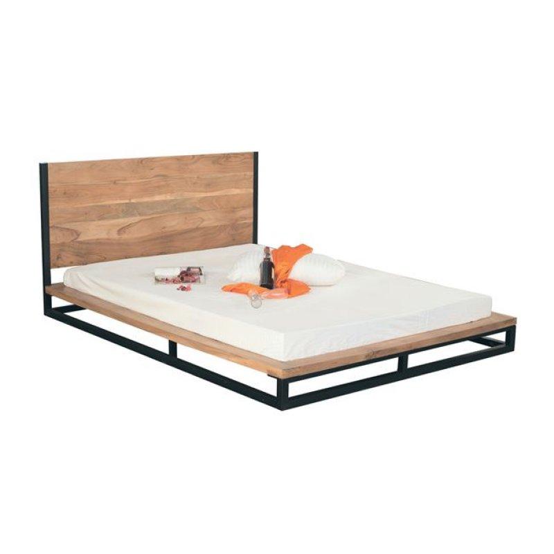 """Κρεβάτι """"NEPAL"""" διπλό από ακακία σε φυσικό χρώμα 173x223x90"""