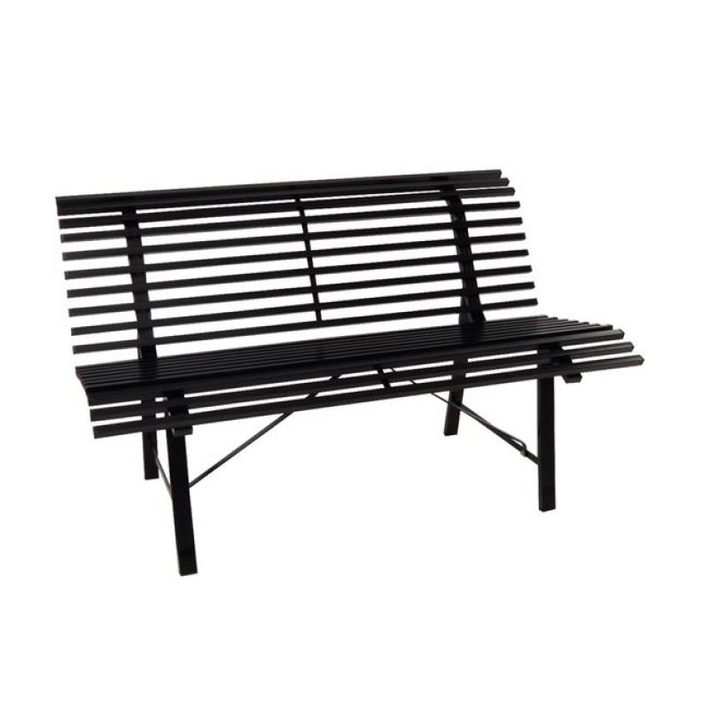 """Παγκάκι """"STANLEY"""" μεταλλικό σε μαύρο χρώμα 125x57x71"""