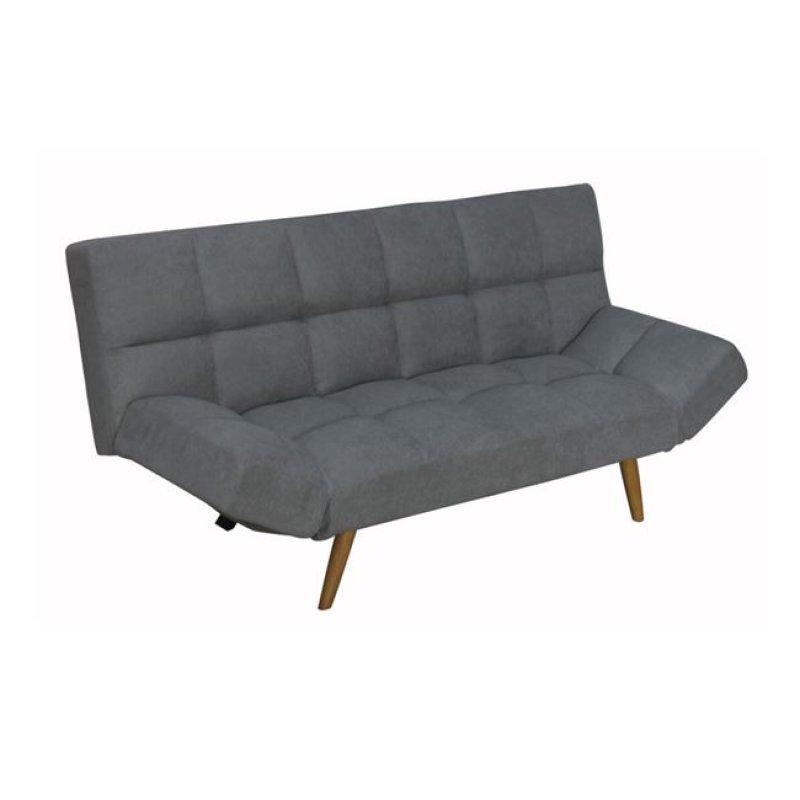 """Καναπές-κρεβάτι """"MOTION"""" διθέσιος από ύφασμα σε γκρι χρώμα 182x81x84"""