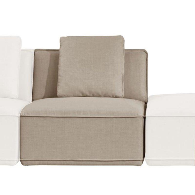 """Καρέκλα """"INFINITY """" υφασμάτινη σε χρώμα sand 80x90x72"""