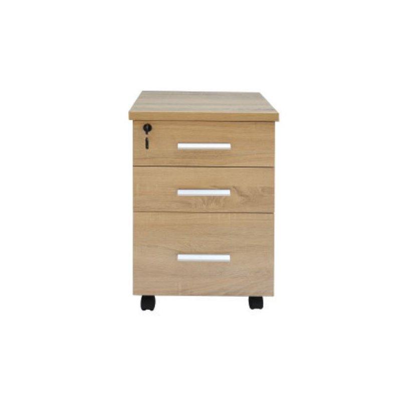 """Συρταριέρα """"ATLAS"""" σε χρώμα σονόμα-λευκό 40x40x60"""