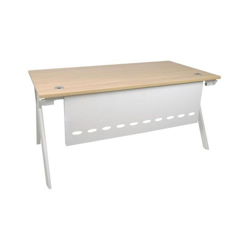 """Γραφείο """"ATLAS"""" μεταλλικό σε χρώμα σονόμα-λευκό 140x80x75"""