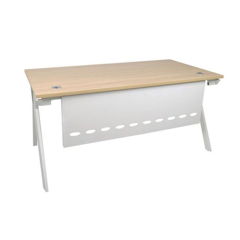 """Γραφείο """"ATLAS"""" μεταλλικό σε χρώμα σονόμα-λευκό 160x80x75"""