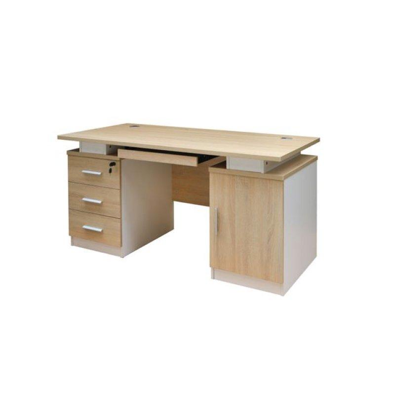 """Γραφείο """"ATLAS"""" σε χρώμα σονόμα-λευκό 140x70x75"""