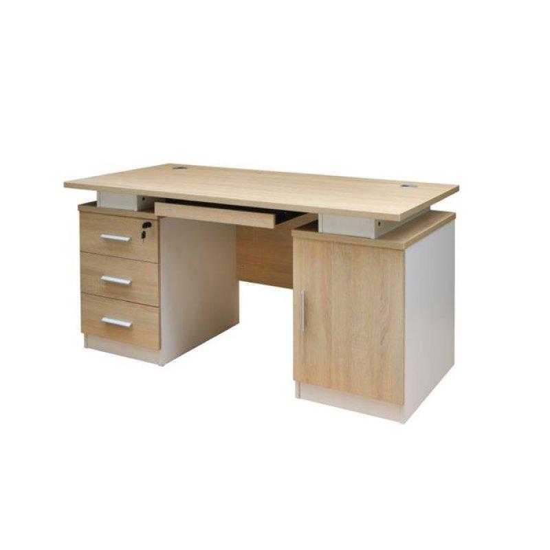 """Γραφείο """"ATLAS"""" σε χρώμα σονόμα-λευκό 140x60x75"""