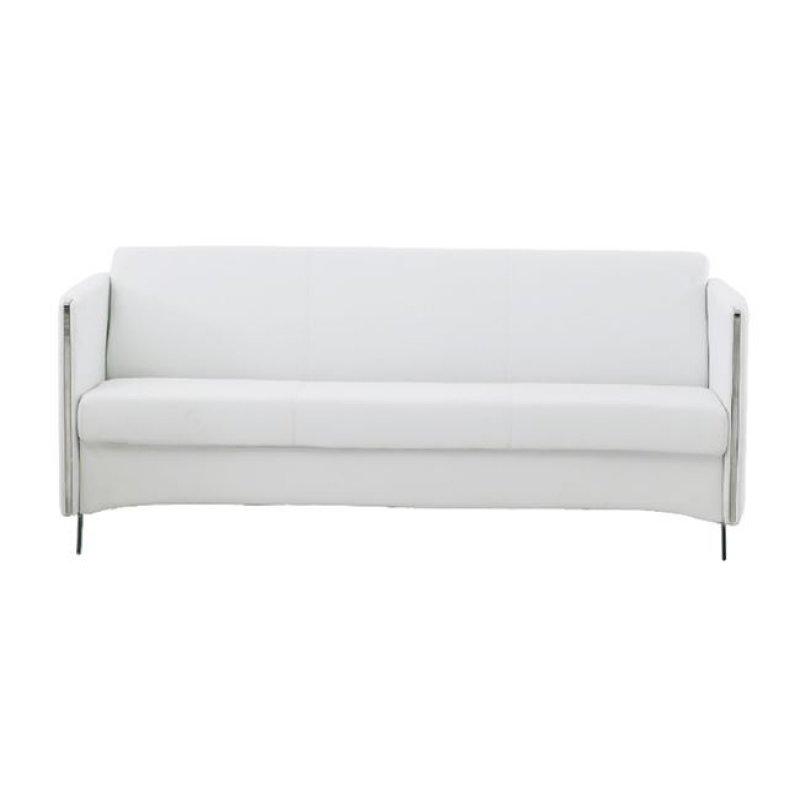 """Καναπές """"ONTARIO"""" τριθέσιος από pu σε λευκό χρώμα 175x74x72"""