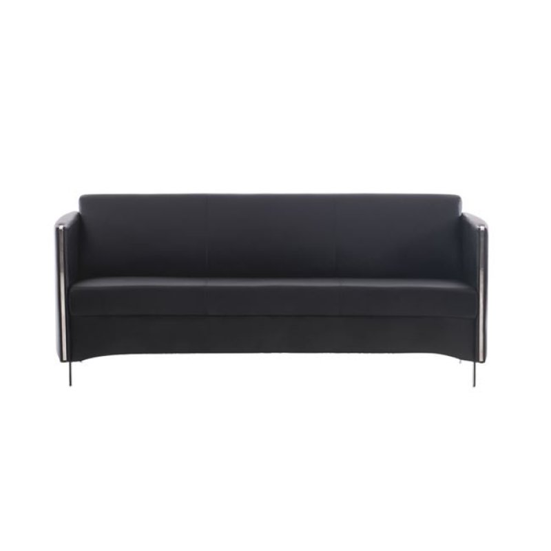 """Καναπές """"ONTARIO"""" τριθέσιος από pu σε μαύρο χρώμα 175x74x72"""