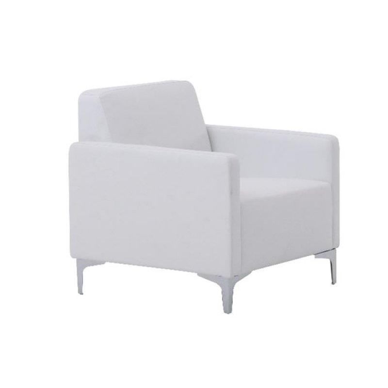 """Πολυθρόνα """"STYLE"""" από τεχνόδερμα σε λευκό  χρώμα 64x71x72"""