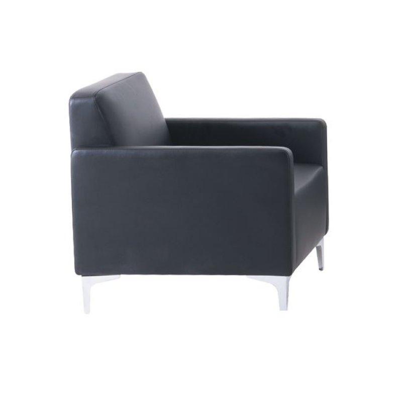 """Πολυθρόνα """"STYLE"""" από pu σε μαύρο χρώμα 64x71x72"""