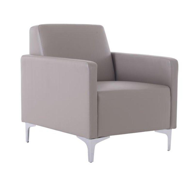 """Πολυθρόνα """"STYLE"""" από pu σε sand grey χρώμα 64x71x72"""